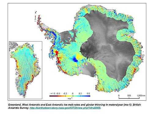 antarctica ice melt nasa