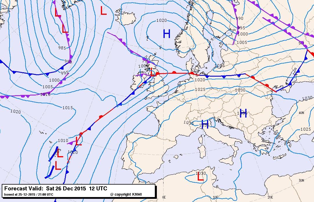 weerkaart europa 26 12 2015